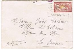 121 MERSON SUR LETTRE POUR LA BELGIQUE DEF. D'OUVERTURE - Postmark Collection (Covers)