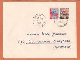 Lettre Moyeuvre - Grande 1960 Destination  Allemagne ( Timbre Marianne à La Nef ) - Covers & Documents