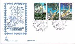 FDC CAPITOLIUM - SAN MARINO - 2002 - ANNO INTERNAZIONALE DELLE MONTAGNE- IL MONTE TITANO - FDC