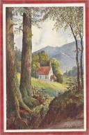 68 - KAPELLE Bei ZIMMERBACH - Carte Signée HANSI - J.J. WALTZ - Série Drei Aehren N° 7 - Colmarer Künstlerpostkarte - Hansi