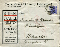 GERMANY 1919 OFFENBACH GUSTAV PIRAZZI &COMP COVER,LETTERS...INTERESTING!! - Cartas