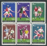 Roumanie N° 2846 / 51  XX  Coupe Du Monde De Football à Munich,  Les 6 Valeurs Sans Charnière, TB - Coppa Del Mondo