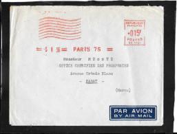 EMA  ROUGE  PARIS  75 - Marcofilie (Brieven)