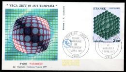 FDC Dept 75 PARIS Tableau VASARELY 1977 - FDC