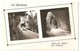 38 -  LA GRANDE CHARTREUSE (cpsm), Route Du Désert, Les Tunnels, éditeur Cellard N° 20027 - Chartreuse