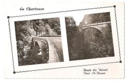 38 -  LA GRANDE CHARTREUSE (cpsm), Route Du Désert, Pont St-Bruno ,éditeur Cellard N° 20032 - Chartreuse