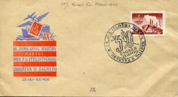YUGOSLAVIA 1950 ZAGREB XX.JUBILARNA IZLOZBA HRV.FILATELISTICKOG - 1945-1992 Socialist Federal Republic Of Yugoslavia