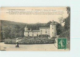 CHANONAT - Vue Générale Du Château De La BATISSE - Animée - 2 Scans - France