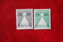 Leprazegels Luchtpostzegels Airmail Airplane ; NVPH Nr: LP29-LP30 1947 Ongebruikt / MH  SURINAME / SURINAM - Surinam ... - 1975