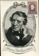 7329 Austria, Maximum 1947,   Franz Grillparzer, Poet - Cartas Máxima