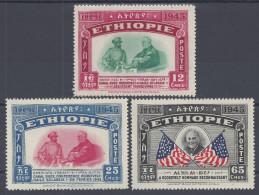 ETHIOPIE -  1947 -  N° 250 - 251 - 252 -  NEUFS - X - TB - - Ethiopie