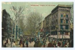 Genre Carte-photo Bon Etat ,  Espagne ,  Catalogne , Barcelone   Rambla De Las Flores Rare Texte Rouge Haut - Barcelona