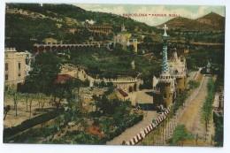 Genre Carte-photo Bon Etat ,  Espagne ,  Catalogne , Barcelone   Parque  Quell, Carte Glacée Texte Rouge - Barcelona