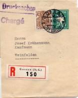 Suisse Entier Postal Bande De Journal Recommandé Gossau 1947 - Enteros Postales
