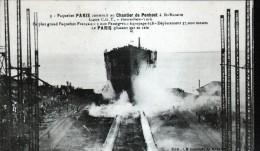 44, PAQUEBOT PARIS CONSTRUIT AU CHANTIER DE St NAZAIRE, LIGNE C.G.T. HAVRE NEW-YORK - Saint Nazaire