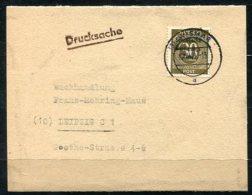3863 - SBZ - Mi.Nr. 208 Auf Streifband-Drucksache Von Wismar Nach Leipzig - Sehr Selten - Sowjetische Zone (SBZ)