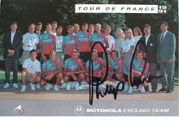 Cyclisme - Phil ANDERSON - Signé De - Dédicace - Hand Signed - Autographe Authentique  - - Wielrennen