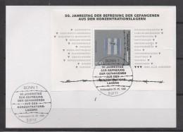 ALLEMAGNE   Carte  BF  Obliteration 1er  Jour  1995 Camps De Concentration Guerre - Guerre Mondiale (Seconde)