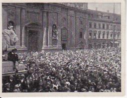 Austria Tabak - Sammelbild Adolf Hitler Und Sein Weg Zu Großdeutschland - Odeonsplatz 1914 Mobilmachung (22504) - Cigarette Cards