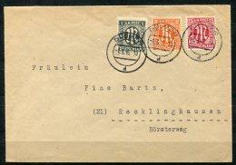 3852 - BIZONE - Mi.Nr. 16 B, 14, 24 A Als MiF Auf Brief Von Dülmen Nach Recklinghausen - American/British Zone