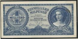 Hungary Ungarn 1946      1.000.000.000 MilPengo   1 - Hungary