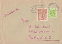Berlin Brief Drucksache Mif Minr.88 Bund Minr.123 Oldenburg 8.9.52 - Berlin (West)