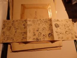 PIERRE FOURNIER (LA VIE DES GENS/HARA-KIRI)  DESSIN ORIGINAL 71cm X 18cm NON SIGNÉ ANNÉES 60 - Books, Magazines, Comics