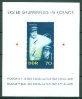 DDR - Block Nr. 17 Erster Gruppenflug Wostok 3 Und Wostok 4 Postfrisch - DDR