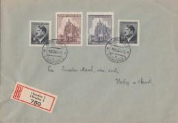 Böhmen Und Mähren R-Brief Mif Minr.2x 89,140, 141 Chrudim 9.12.44 - Besetzungen 1938-45