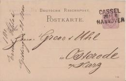 DR Ganzsache Bpst. L3 Cassel - Hannover - Deutschland