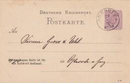 DR Ganzsache Bpst. Nachv. Stempel Ohrdruf 29.10.85 - Deutschland
