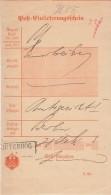 DR Post-Einlieferungsschein R2 Jüterbog 28.2.1903 - Deutschland