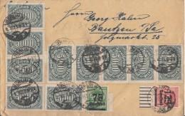 DR Brief Mif Minr.10x 256,287,291 UR Berlin 1.10.23 - Briefe U. Dokumente