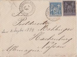 Frankreich Brief Mif Minr.72, 73 Ansehen !!!!!!!!!!! - 1876-1898 Sage (Type II)