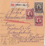 DR Paketkarte Mif Minr.2x 129, 133 Kempten - Briefe U. Dokumente