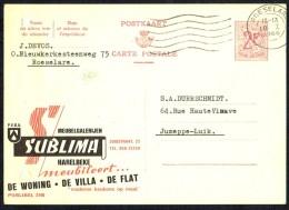 "CP Public. N° 2108 - "" Meubelgalerijen SUBLIMA "" -  Usagée / Used - 1966. - Entiers Postaux"
