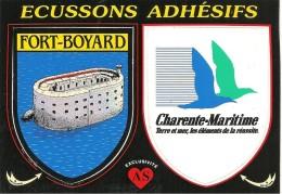 CARTE -AUTOCOLLANT-ECUSSON ADHESIF-CHARENTE-MARITIME-FORT BOYARD-TBE - Autocollants