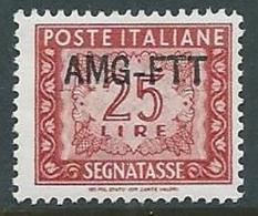 1949-54 TRIESTE A SEGNATASSE 25 LIRE MNH ** - G163 - 7. Trieste