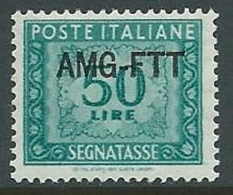 1949-54 TRIESTE A SEGNATASSE 50 LIRE MNH ** - G163 - 7. Trieste