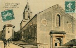 CPA Donzère-L'église Et La Grande Rue  L2086 - Donzere