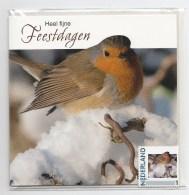 Hallmark 2791-Hc-xx 2012 Vogel Kerstkaart En Postfrisse Persoonlijke Postzegel In Originele Verpakking - Netherlands