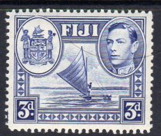 FIJI - 1938-1955 KGVI THREE PENCE 1938 DEFINITIVE P12.5 FINE MNH ** SG 257 REF B - Fiji (...-1970)