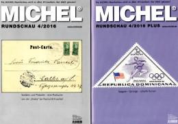 Briefmarken Rundschau MICHEL 4/2016 Sowie 4/2016-plus Neu 12€ New Stamps/coin Of The World Catalogue/magacine Of Germany - Deutsch