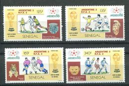157 SENEGAL 1986 - Football Argentine RFA Coupe A Mexico (Yvert 667/70) Neuf ** (MNH) Sans Trace De Charniere - Senegal (1960-...)