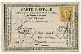 Carte Précurseur ( CPO ) / T16 DOLE DU JURA Sur TP Type Ceres / 1er Mai 1876 - Marcophilie (Lettres)