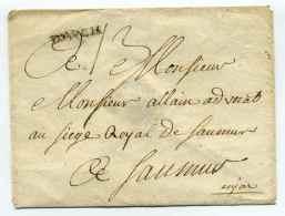 MP D'AUCH  / Dept 31 Gers /  à Destination De Mr Allain Avocat Au Siège Royale De SAUMUR / Cachet De Cire Au Verso - 1701-1800: Precursores XVIII