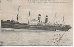 Anvers-S.S. Vaderland De La Red Star Line. - Bateaux