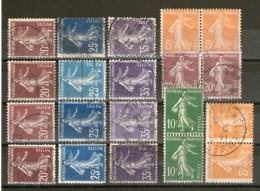 Petit Lot */°_papiers-nuances-paires - 1906-38 Sower - Cameo