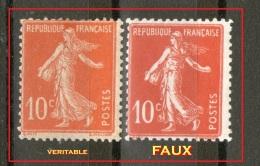 N° 138*/**__un Vrai* Et Un FAUX**_voir Scan - 1906-38 Sower - Cameo
