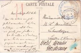 GUERRE 14-18 - ARMEE D'ORIENT - TRESOR ET POSTES *502* - 15-11-1916 - CHEMINS DE FER DE CAMPAGNE SERVICE MEDICAL 7e SECT - Postmark Collection (Covers)